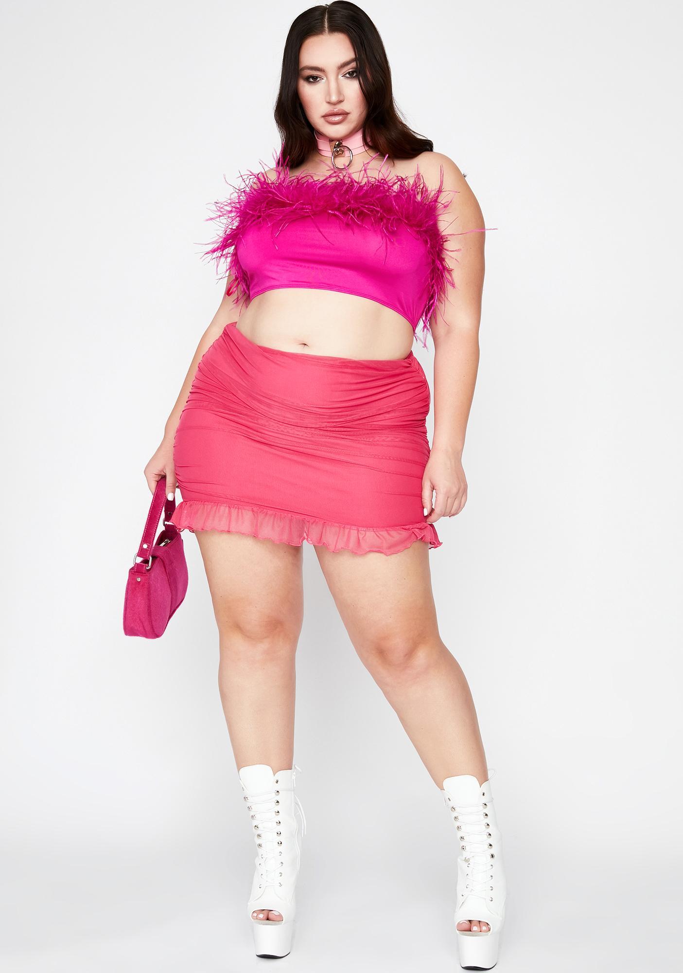 Pretty Lil Prissy Much Marabou Top