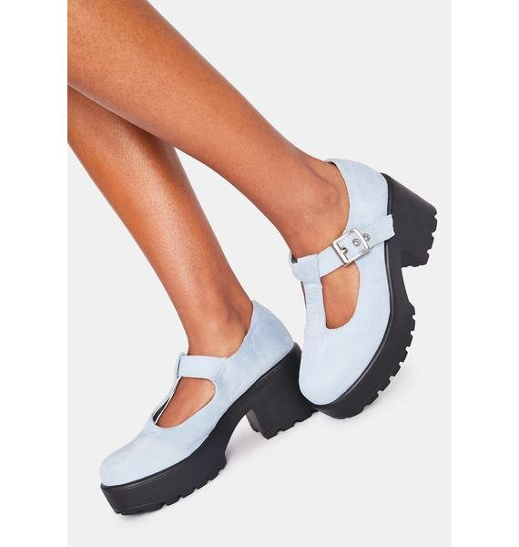 Koi Footwear Light Blue Sai Mary Janes