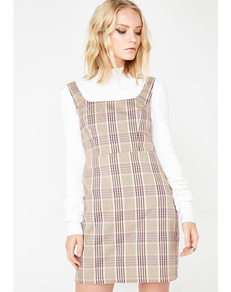 Busy Hustlin' Plaid Dress