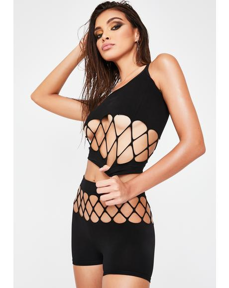 Dark Atomic City Fishnet Set