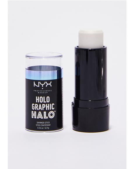 Primal Holographic Halo Shimmer Stick