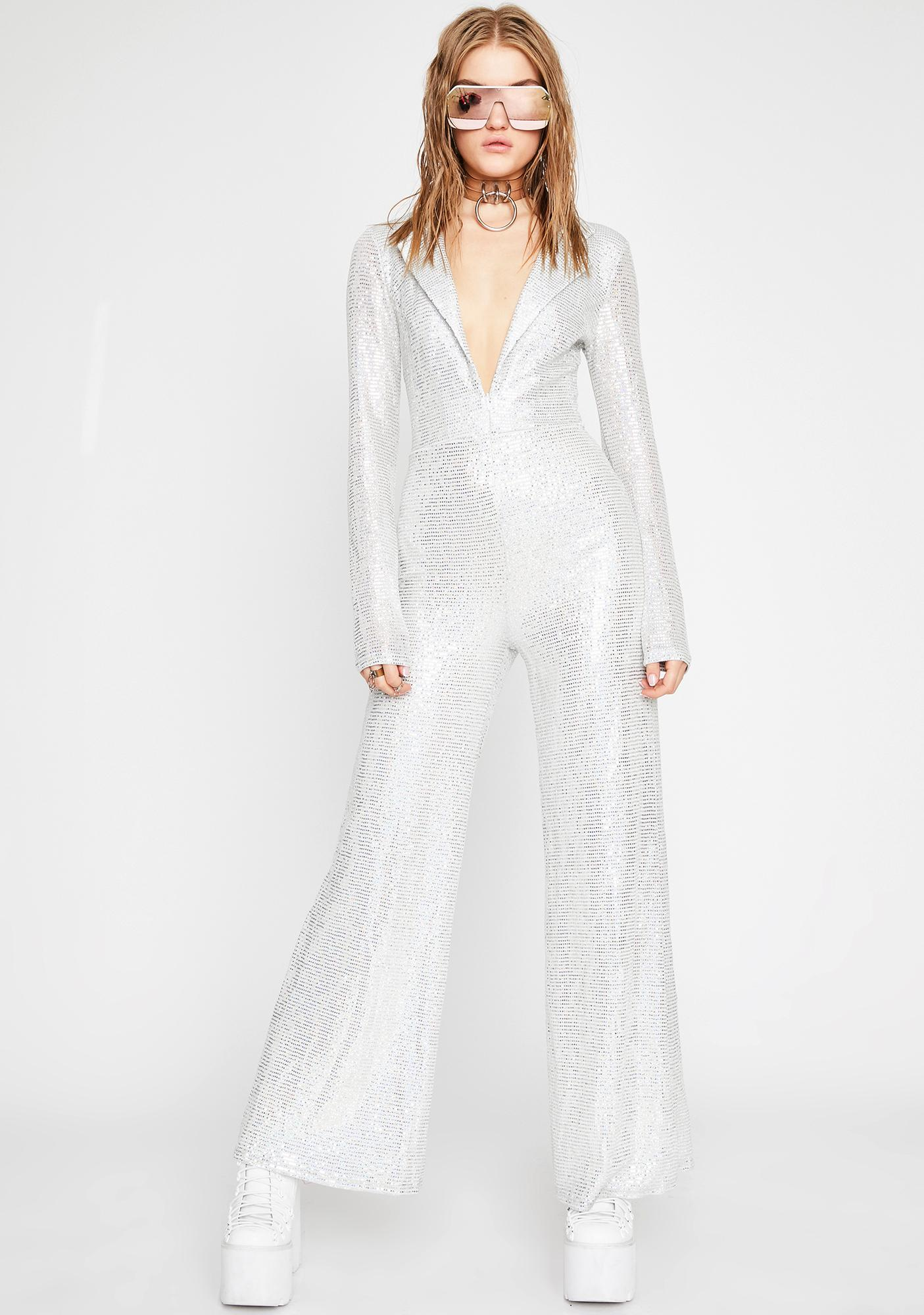 Sales promotion select for genuine authorized site Disco Fever Sequin Jumpsuit