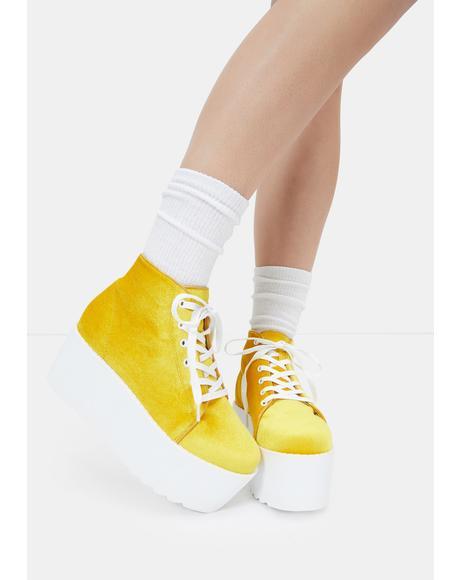 Yellow Barletta Platform Sneakers