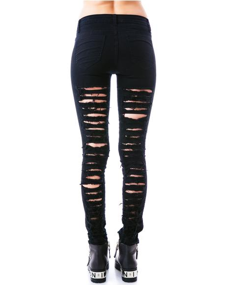 Juliana Destroyed Skinny Jeans
