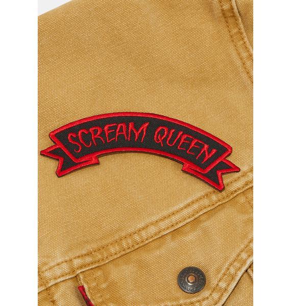 Kreepsville 666 Scream Queen Arch Patch
