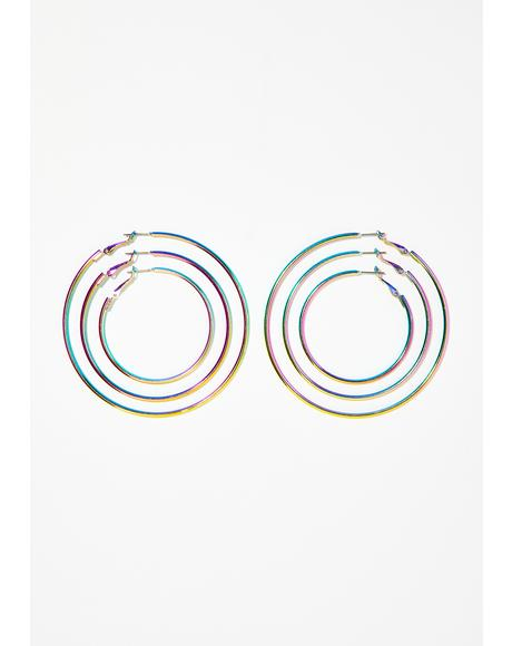 Glow BB Rainbow Earrings Set