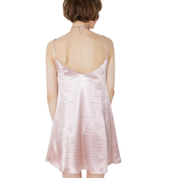 Lazy Oaf Rose Gold Princess Dress
