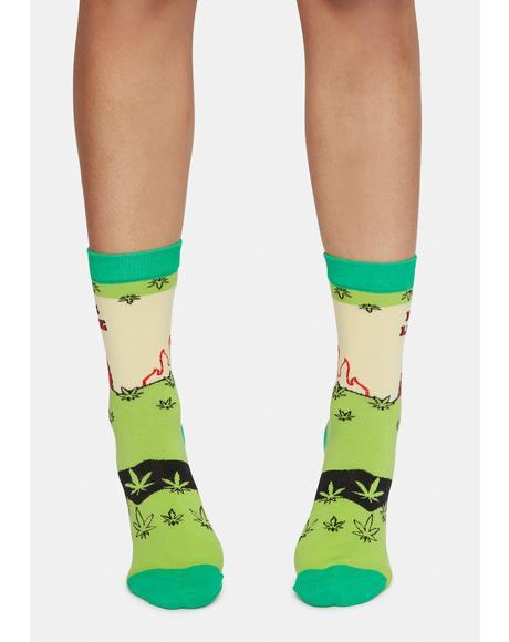 Devil's Lettuce Crew Socks