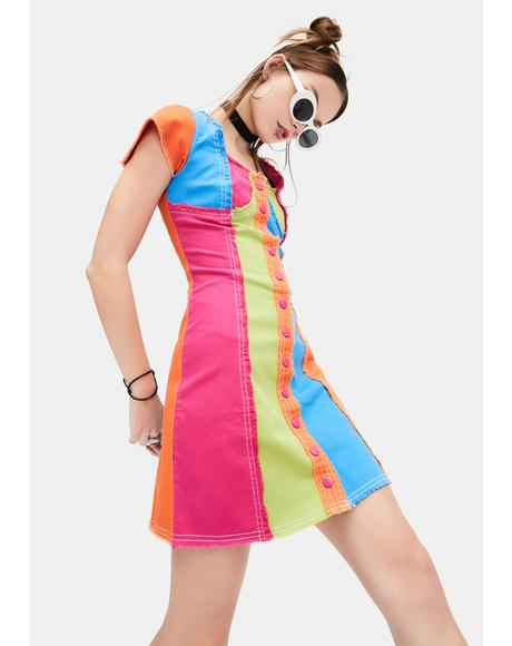 Alter Ego Colorblock Mini Dress