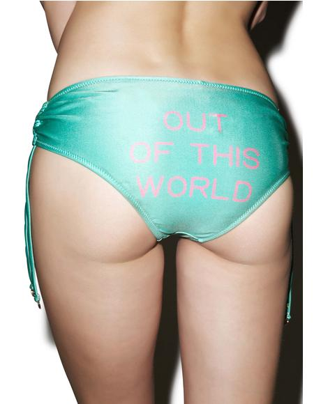 Out Of This World Ruched Bikini Bottom