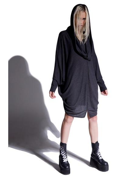 Invocations Draped Batwing Top