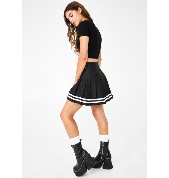 dELiA*s by Dolls Kill Just A Kiss Pleated Skirt