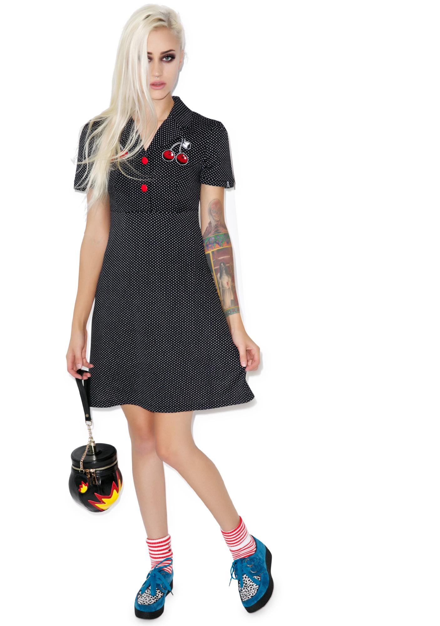 Sourpuss Clothing Cherries Rosie Dress