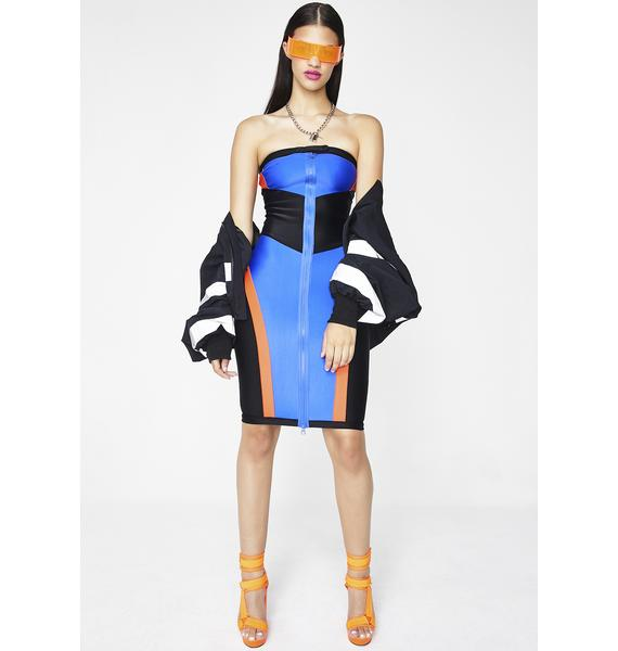 PUMA FENTY PUMA By Rihanna Scuba Paneled Biker Dress
