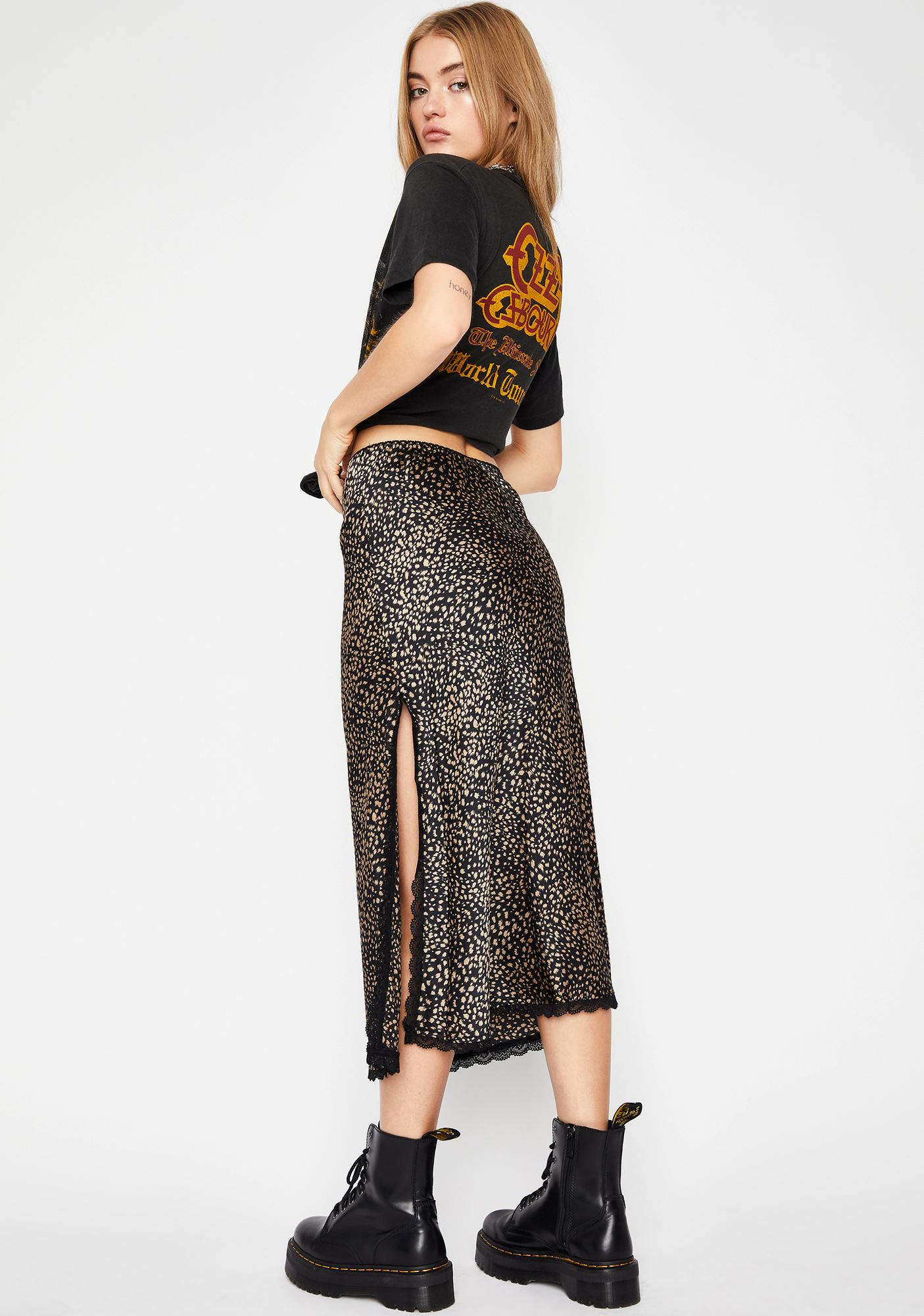 Midnight Bloomer Floral Midi Skirt