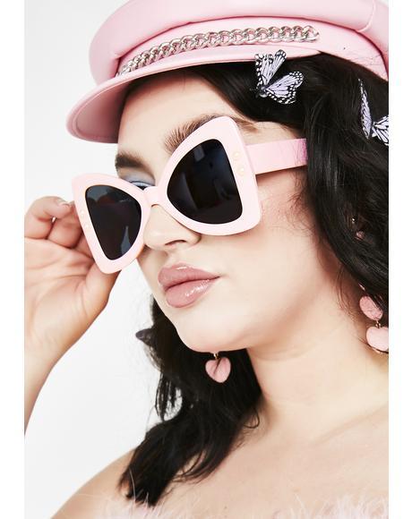 Funky Frenzy Triangle Sunglasses