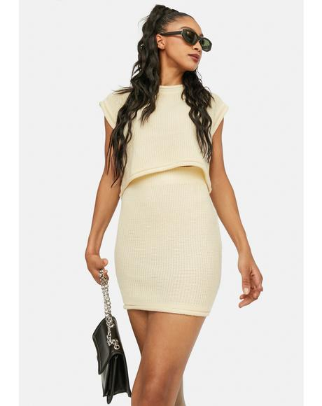 Beige Freestyle Mini Skirt Set