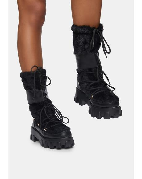 Brutally Honest Fuzzy Combat Boots