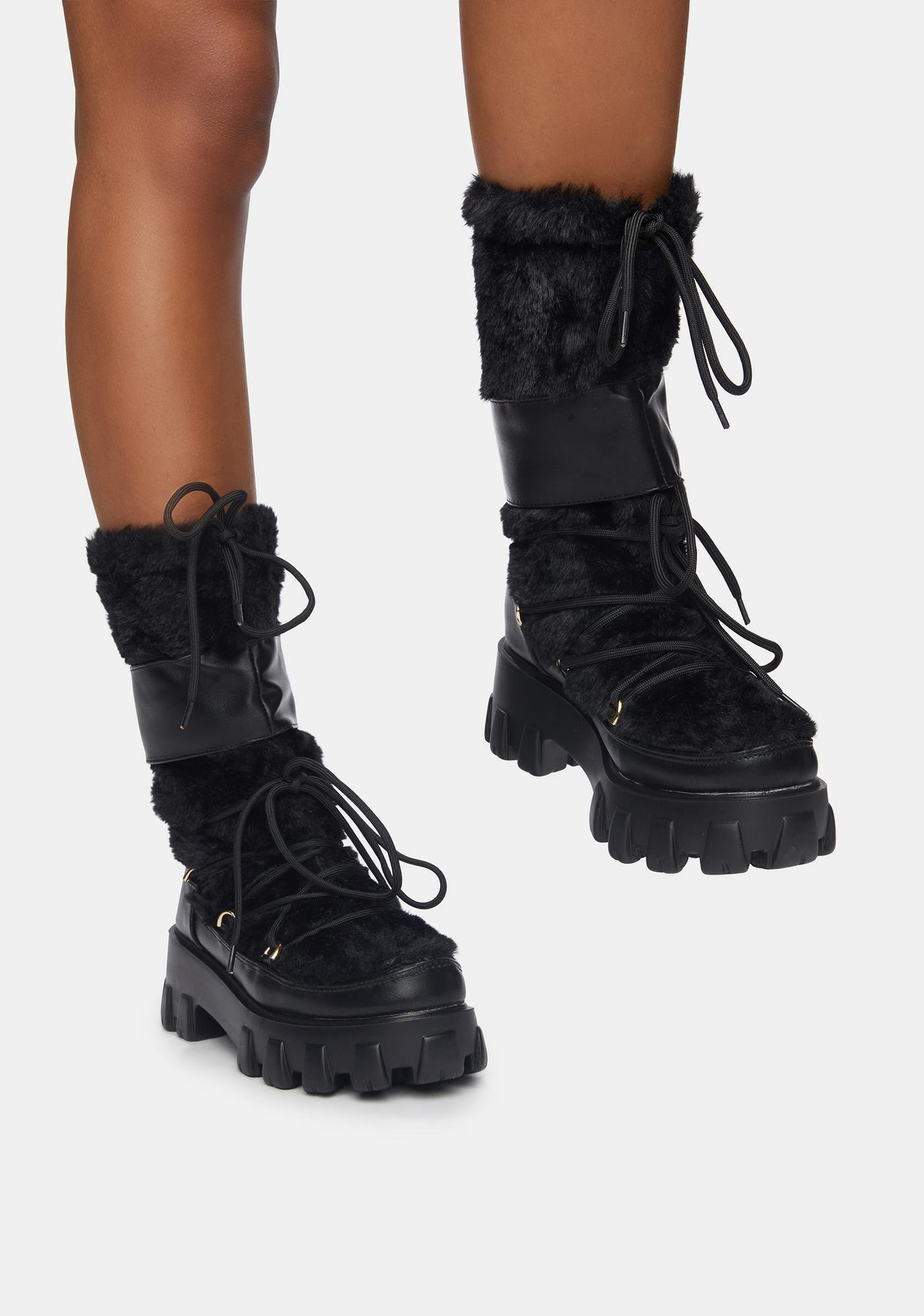 Brutally Honest Fuzzy Combat Boots