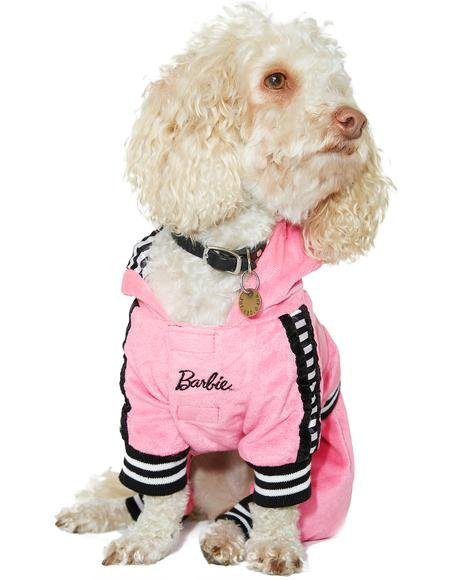 Barbie Girl Tracksuit Dog Costume