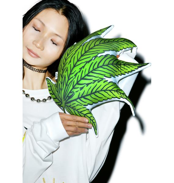 O Mighty Wavy Weed Pillow