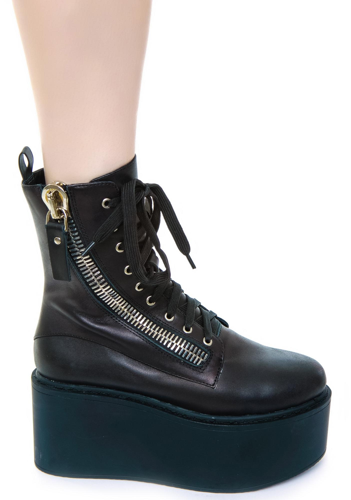 unif trench high boot dolls kill