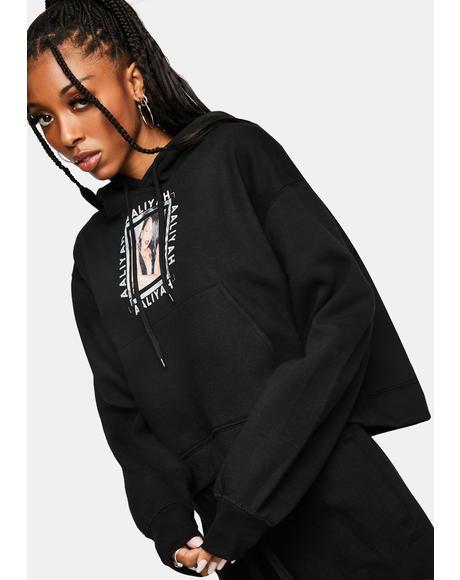 Aaliyah Hug Cropped Pullover Hoodie