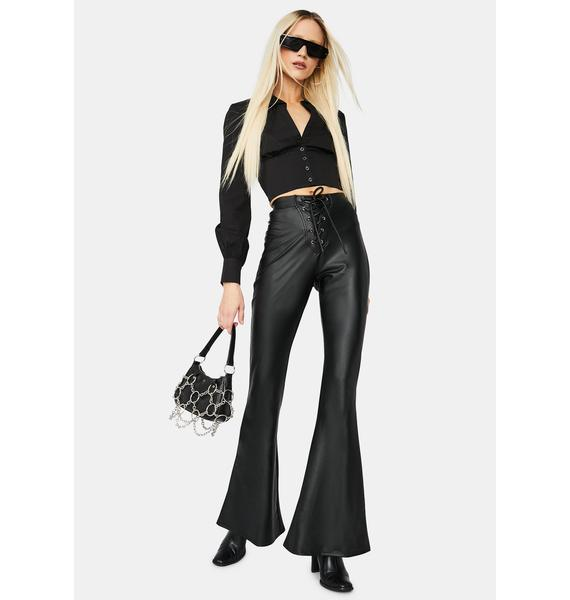 On The Rise Vegan Leather Flare Pants