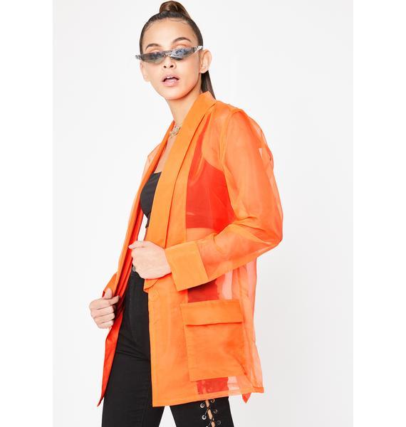 Bizness Model Organza Blazer