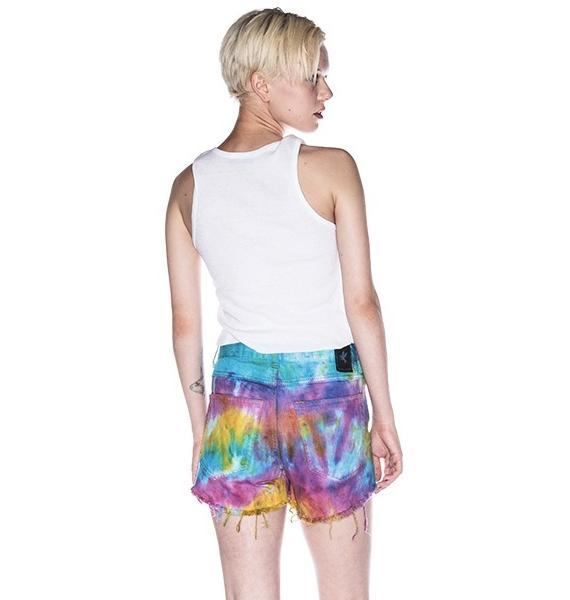 One Teaspoon Tie Dye Romeos Shorts