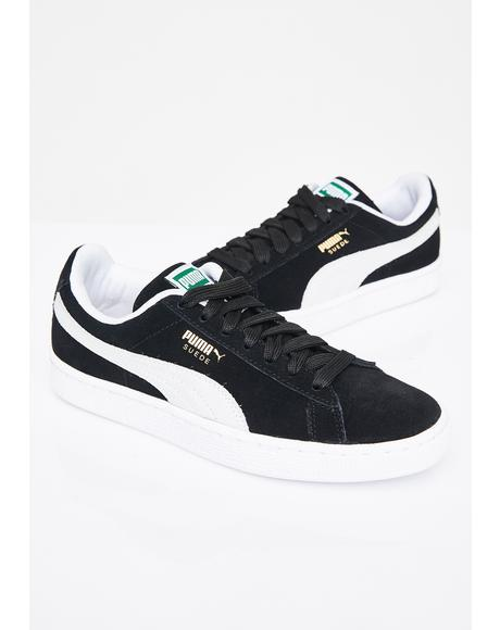 Black Suede Classic Sneakers