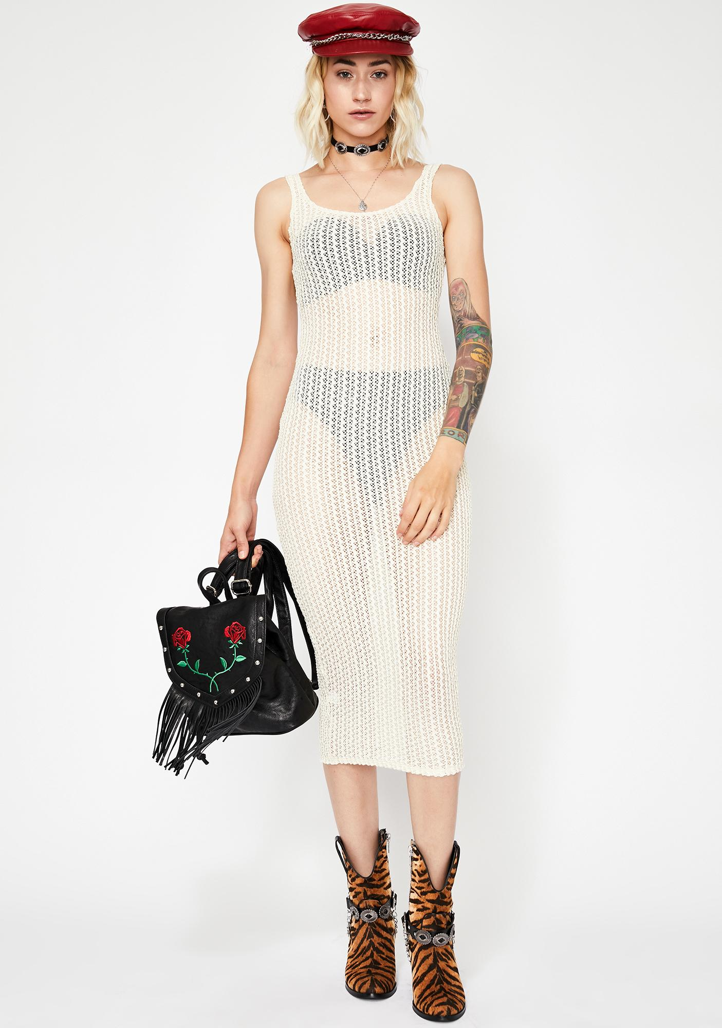 Purely High Risk Crochet Dress