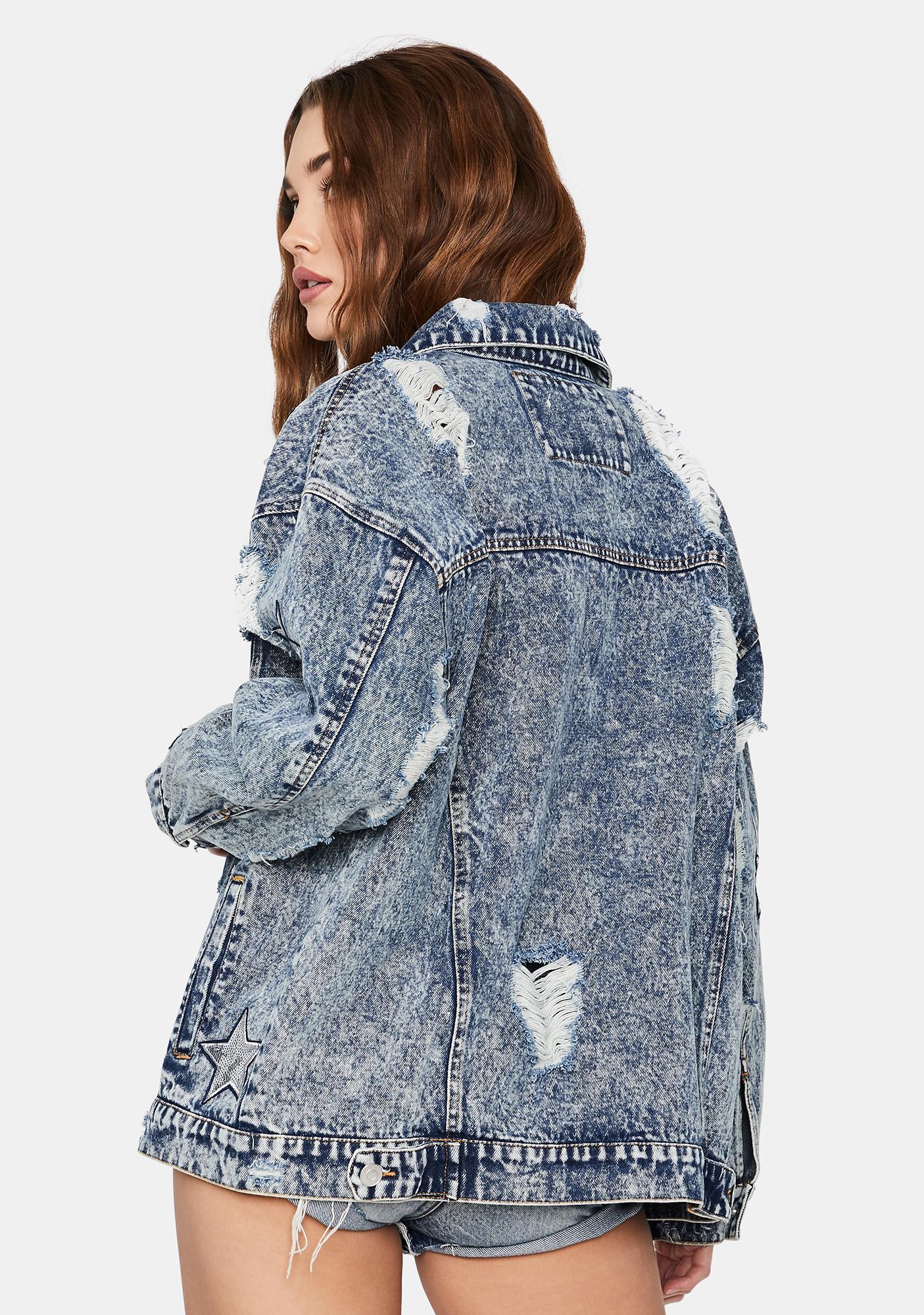 All Nighter Rocker Denim Jacket