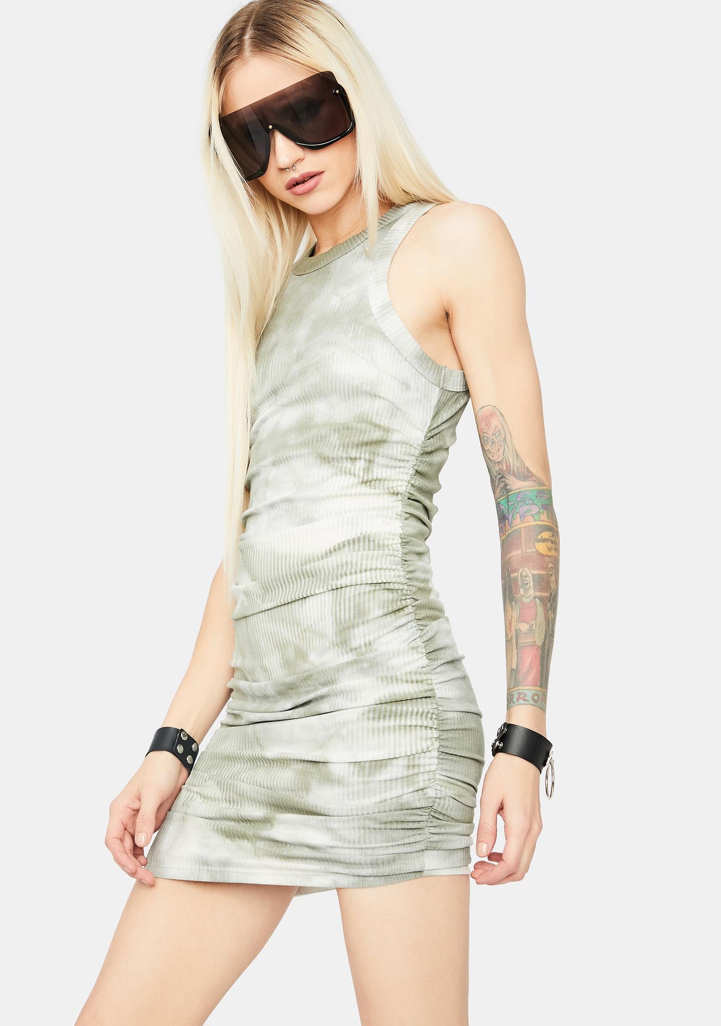 Decision Made High Neck Tie Dye Mini Dress