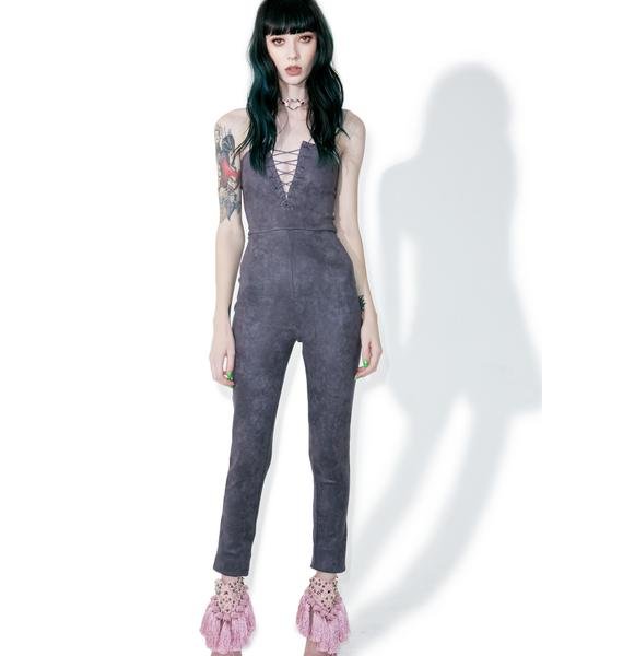 In A Flash Lace-Up Jumpsuit