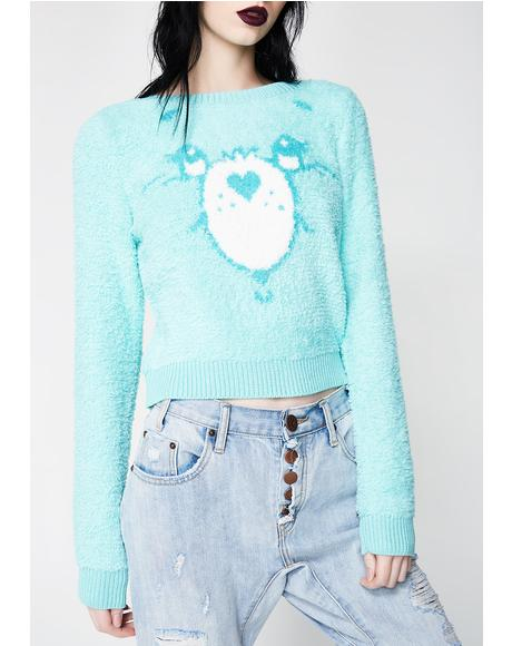 Teal Wish Bear Sweater