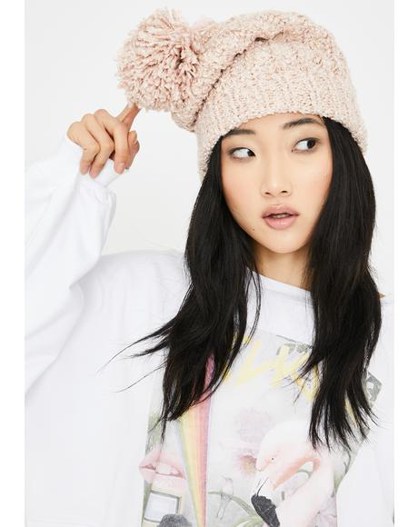 Bae Barely Makin' It Pom Pom Beanie