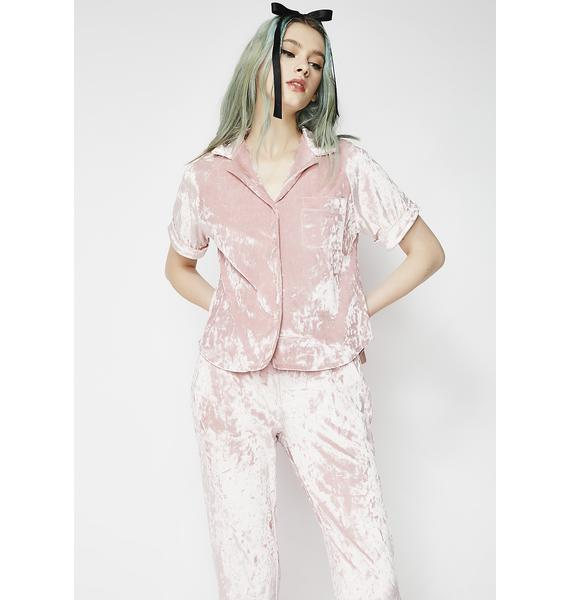 Blush Crushin' Hard PJ Set