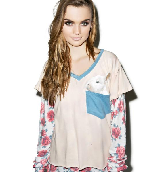 Wildfox Couture Pocket Bun Romeo V-Neck Tee