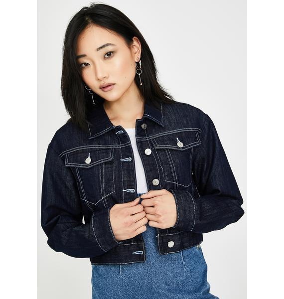 Momokrom Dark Wash Denim Jacket