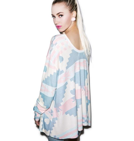 Wildfox Couture Cozy Blanket Effortless Thermal