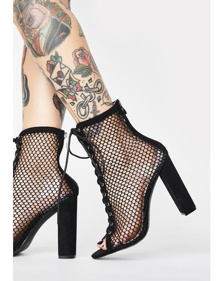 Sunrise Lace-Up Stiletto Heels