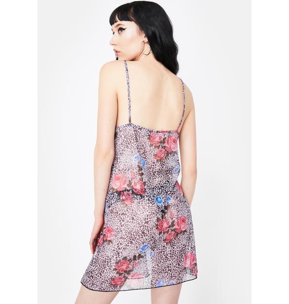 Motel Jungle Rose Sanita Mini Dress