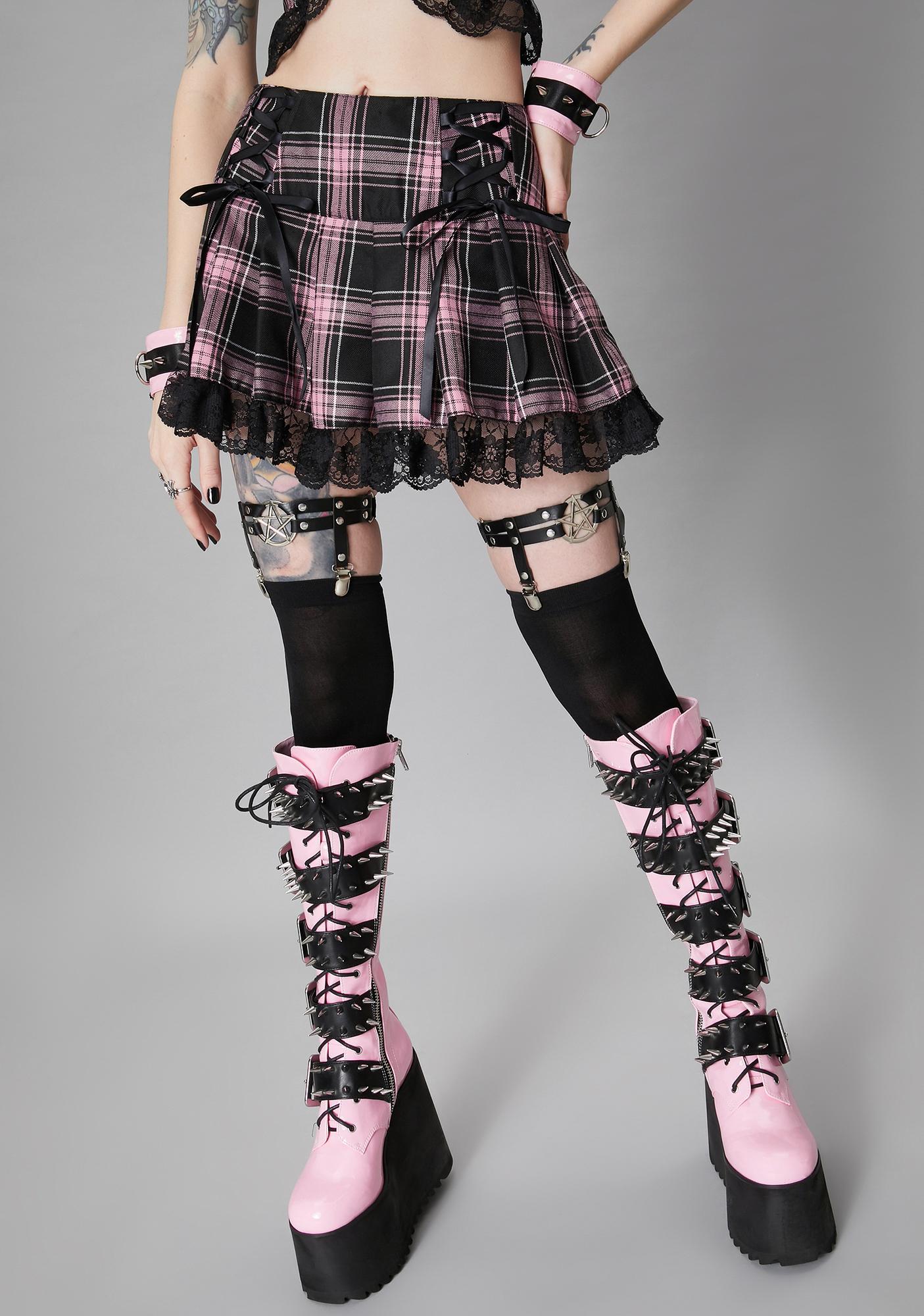 Widow Charm School Dropout Plaid Skirt