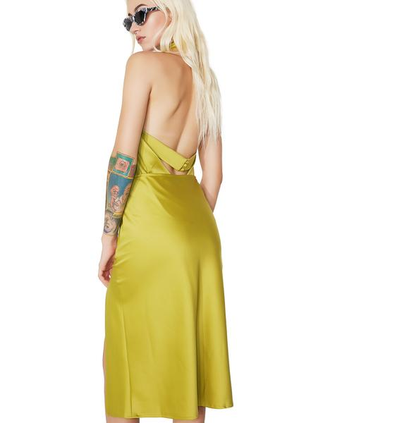 Lime Light Midi Skirt