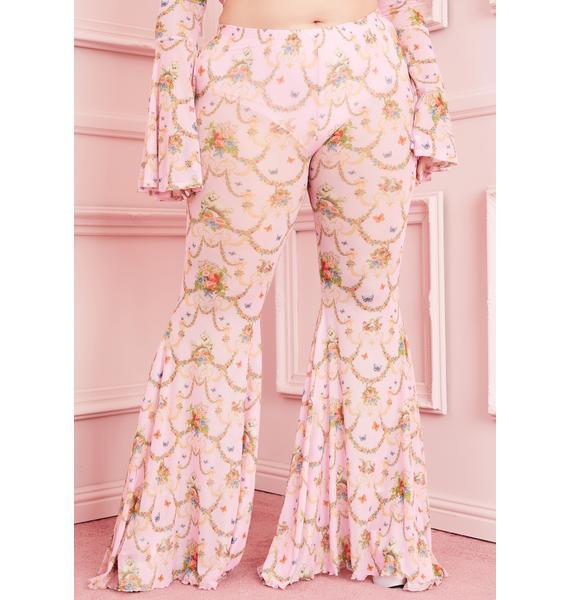 Sugar Thrillz Lux Lush Opulence Flare Pants
