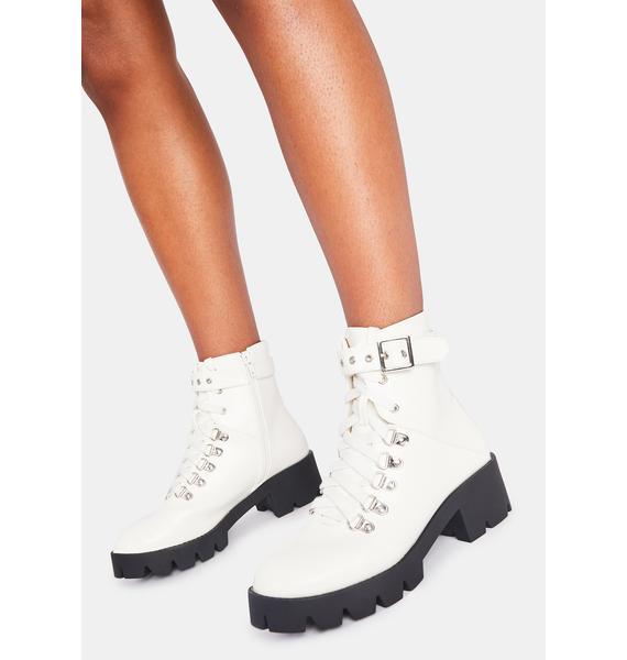 Icy I'm Supergirl Combat Boots