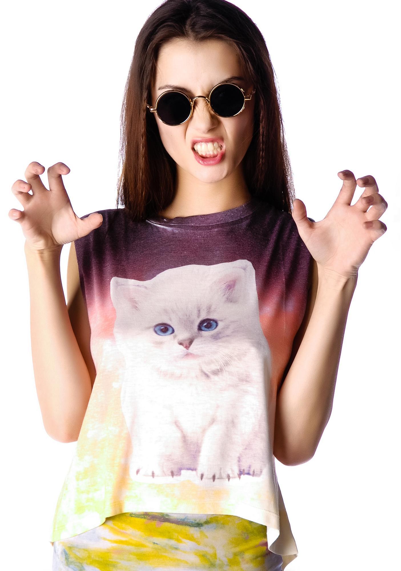 Meow Face Ombre Tank