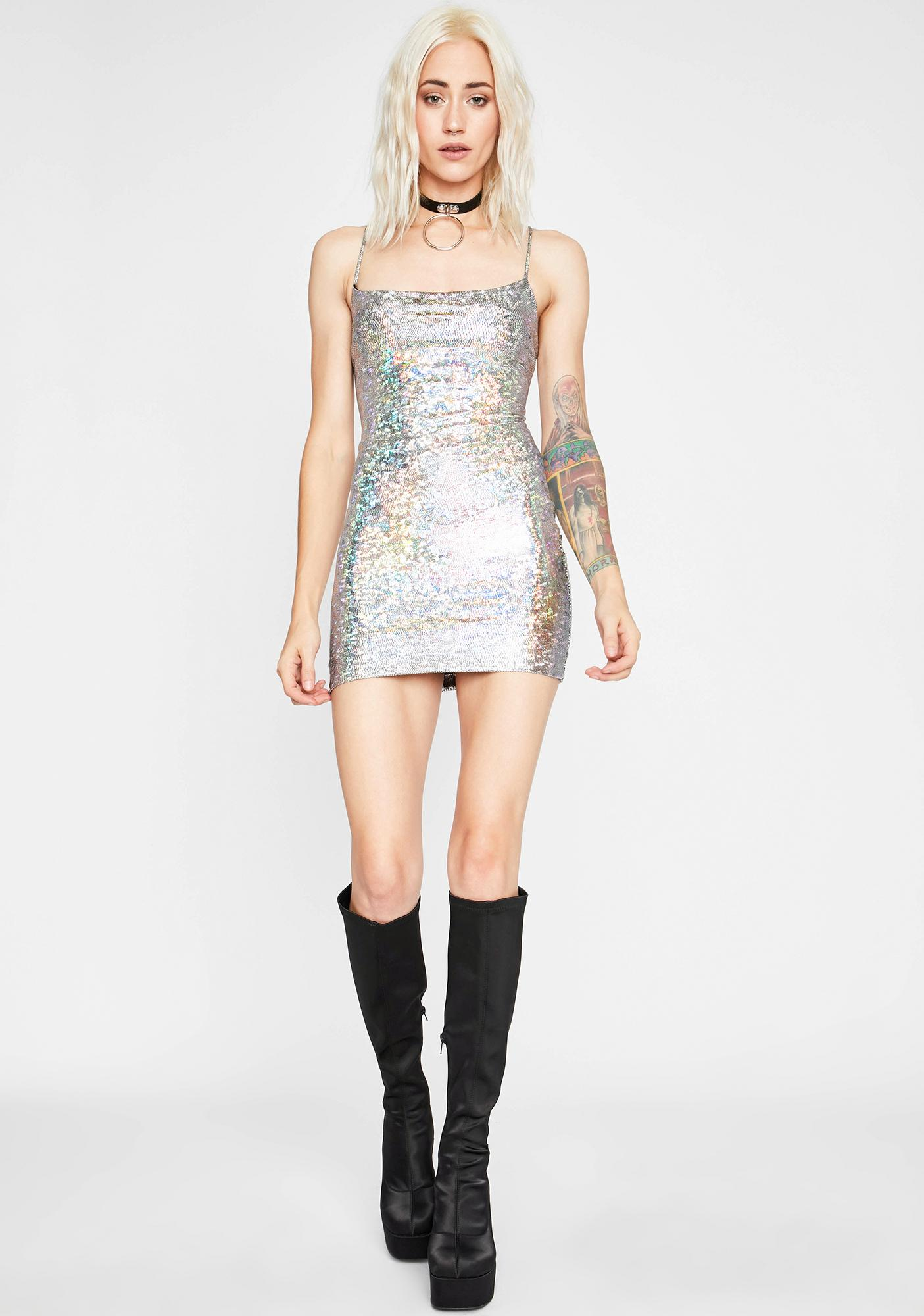 Freaky Space Stunt Holographic Dress