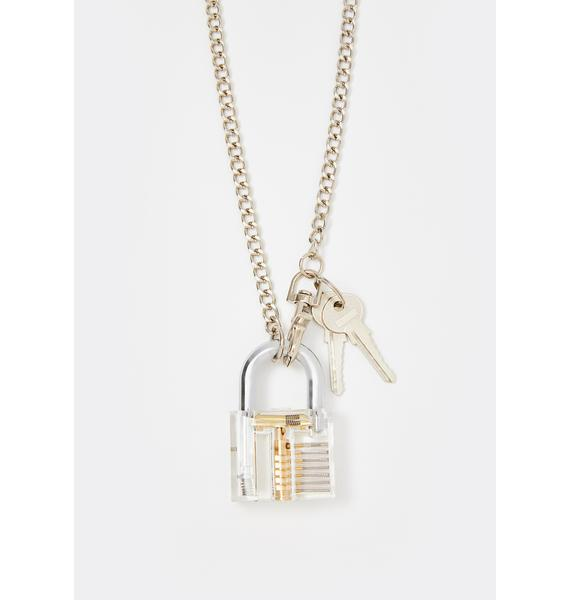 Locked Away Chain Necklace